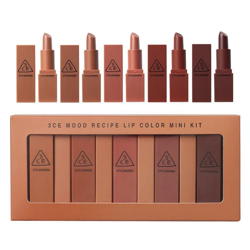 遠洋の意識的衣装3CE mood recipe lip color mini kit 3CE ムードレシピ リップ カラー ミニ キット[並行輸入品]