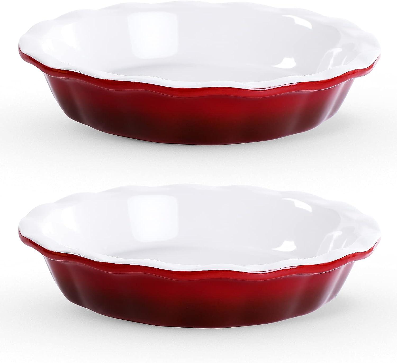 Pie Plate for Baking 5 ☆ very popular Lareina Ceramic Max 50% OFF Pans 10.5