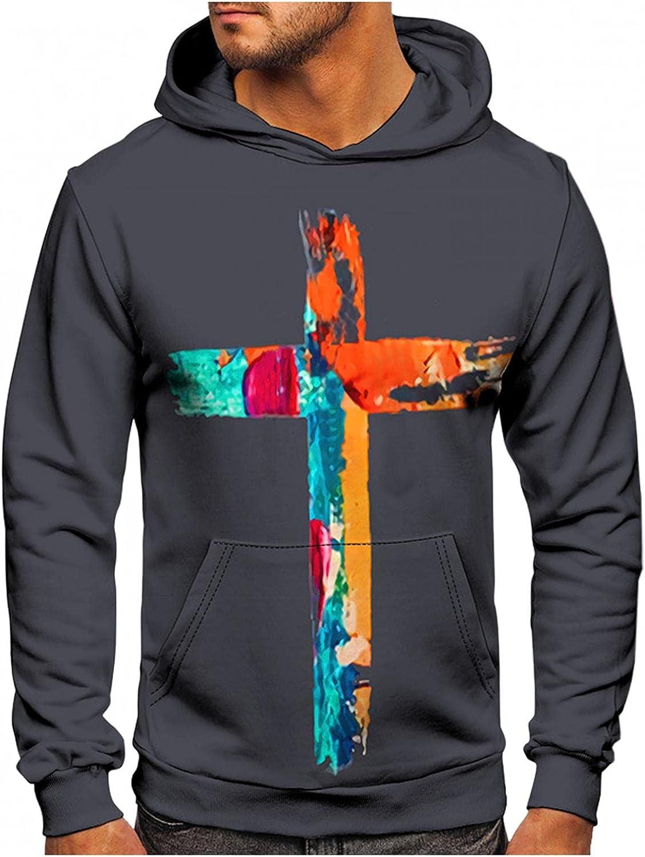 Hoodies for Men Pullover Men's Tie Dye 3D Print Athletic Sweatshirt Long Sleeve Slim Drawstring Hooded Hoodies Outwear Coats