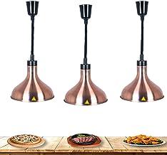 sahadsbv Lampe chauffante pour Aliments, Lampe Suspendue pour Chauffe-Plats Commerciale adaptée à la Nourriture d'isolatio...