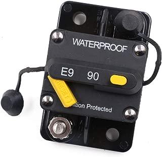 Gloaso RV Trucks Boat 90 Amp Surface-Mount Circuit Breakers with Manual Reset Switch, 12V 24V 36V 48V 72V DC Water-resistant