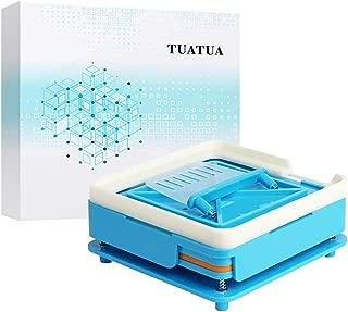 TUATUA Second Generation Empty Capsule Plates Holder with Spreader, 100 Holes 0# Vitamins Coffee Powder Manual Filling Capsules Tool