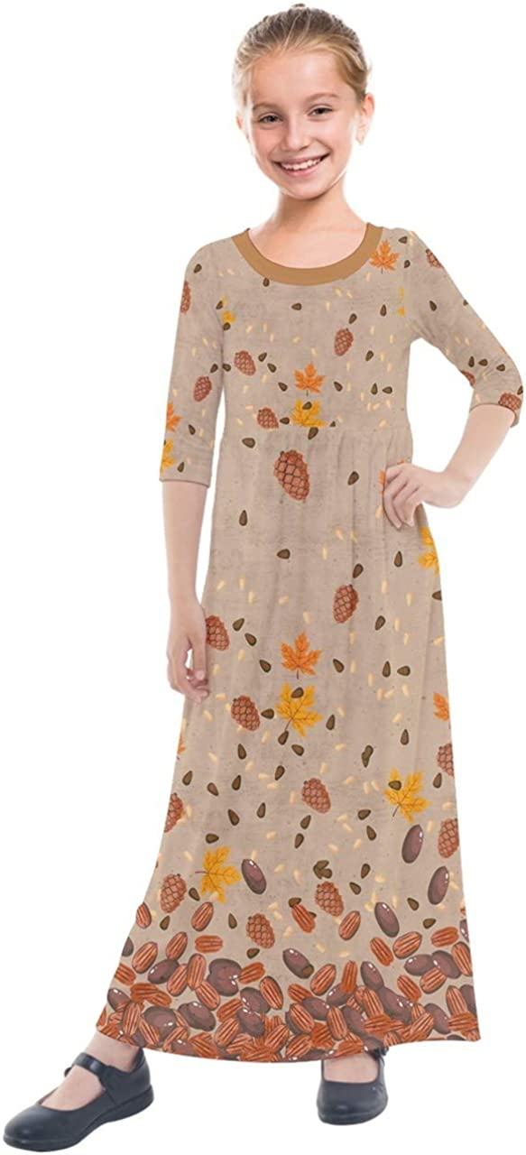PattyCandy Cheap mail order specialty store Girl's 3 4 Sleeve Autumn Leaves Max 48% OFF Fall Sunflowers Bunny