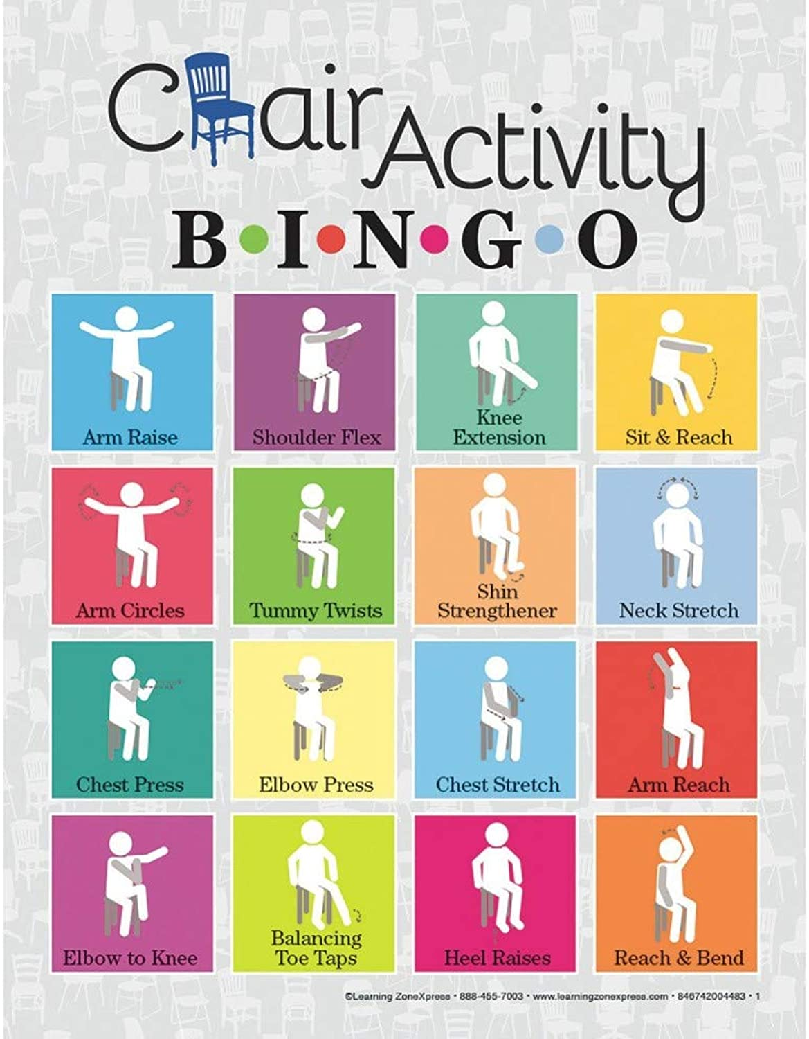 Learning Zone Express Chair Activity Bingo
