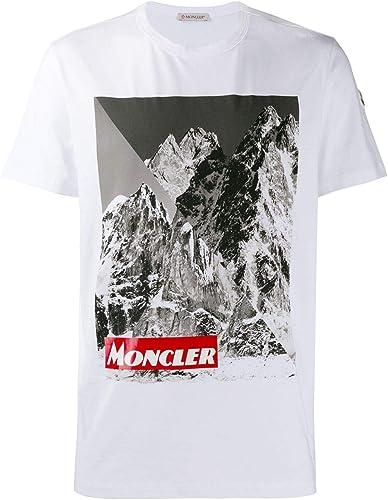 MONCLER Homme 80483508390T001 Blanc Coton T-Shirt