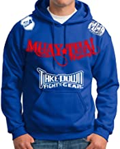 Muay Thai Fighting Jiu Jitsu Stryker Fight Gear Hoodie Jacket Jumper MMA UFC W * (XL, Blue)
