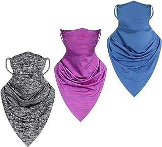 3 bandanas unisex sin costuras triangulares, bufandas para la cara, bucles para las orejas, polainas para el cuello, banda...