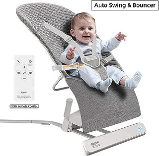 Baby Bouncer, RONBEI Baby Swing for Infants,Travel Swing for Baby,Automatic Swing & Bouncer for Baby Girl/Baby Boy (Dark Grey)
