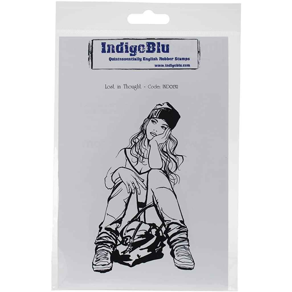 IndigoBlu Cling Mounted Stamp, Lost in Thought