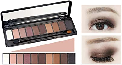 Festnight NOVO Fashion Natural Shimmer Matte Eye Shadow Powder Makeup Palette with Brush Long Lasting 10 Colors Eyeshadow Cosmetics Set 01#
