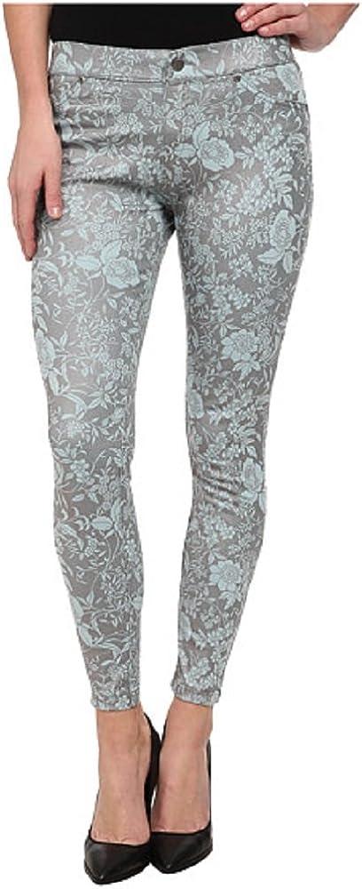 Hue Women's Floral Metallic Super Smoooth Denim Skimmer Legging