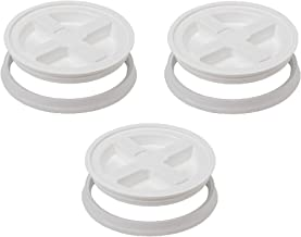 White Gamma Seal Lid , 3 Pack