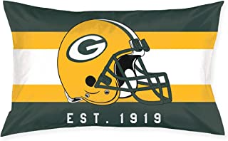 Marrytiny Custom Rectangular Pillowcase Colorful Green Bay Packers American Football Team Bedding Pillow Covers Pillow Cases for Sofa Bedroom Bedding Car Home Decorative - 20x30 Inches