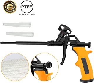 Foaming Gun, MANGZ Hand Foam Caulking Gun, PU Expanding Dispensing Foam Spray Gun Application Applicator for Caulking, Filling, Sealing