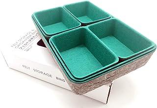 $45 » Welaxy Felt Office Drawer Trays Organizers Bins Storage Bins Drawers dividers Drawers Organizer Bins, 7 Pack (Lime Green)