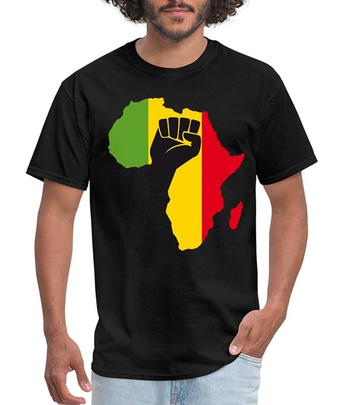 Spreadshirt African Black Power Fist Men's T-Shirt