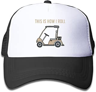 This Is How I Roll Golf Cart Funny Golfers Mesh Hats Snapback Baseball Caps For Kids