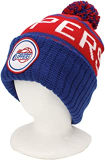 Mitchell & Ness Los Angeles Clippers Vintage Cuffed Pom Knit Cap/Beanie