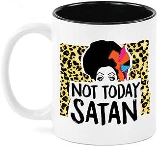 Not Today Satan, RuPaul's Drag Race Funny Coffee Mug- 11oz Ceramic Coffee Mug Tea Cup …