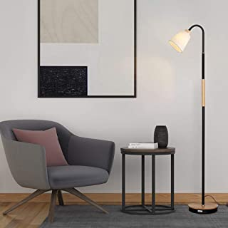 HAITRAL Modern Floor Lamp - 360Adjustable Standing Lamp, Tall Reading Lamp with Weighted Base, Lamp for Living Room, Bedroom, Office, College Dorm - Without Blub (HT-TH88-02S)