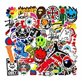 101 Pezzi Kit Adesivi Graffiti, Vsco Stickers Tumblr Vinyl Kawaii Decals per Bambini Adolescenti, Adulti, Laptop, Auto, Moto, Biciclette, Skateboard, Valigia (Colorful)