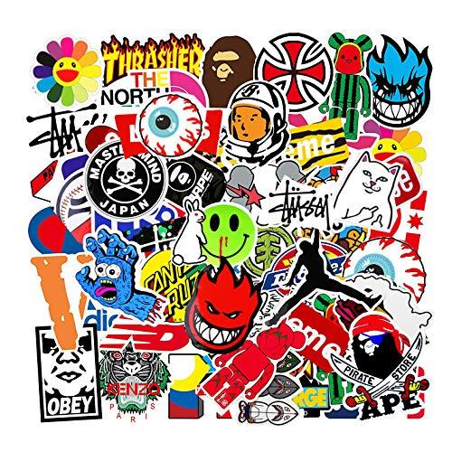 Aufkleber Pack (101 Stück), Vsco Graffiti Vinyl Stickers für Laptop, Autos, Fahrrad, Skateboard, Gepäck, Koffer, DIY Party Supplies Patches Decal, Aesthetic Wasserdicht Stickers für Kinder