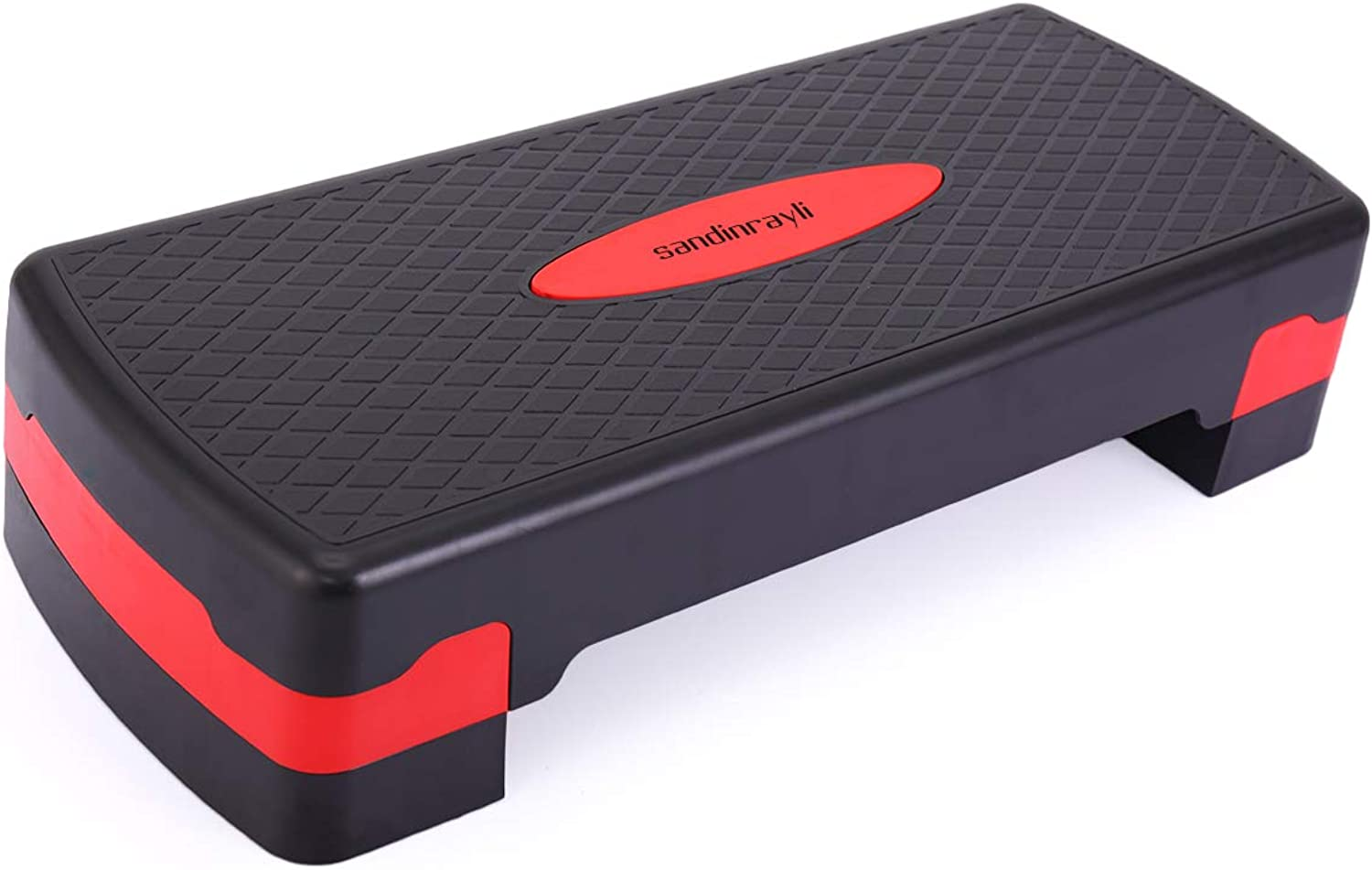 LAZYMOON 70cm Fitness Aerobic Step Riser Trainer Height Adjustable Exercise Stepper, Red and Black