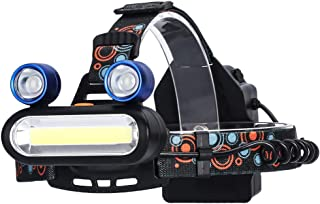 MUTANG 3LED Frog Eye Headlamp High Power USB Rechargeable Head-Mounted Flashlight Outdoor Portable 90 ° Rotatable Glare Head Torch