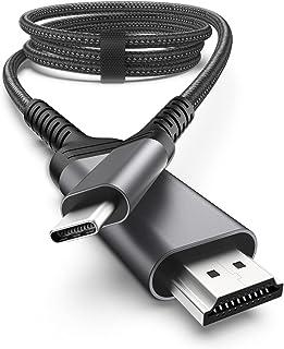nonda Cable USB C a HDMI 4K@60Hz [2M], Cable USB Tipo C a HDMI 2.0 [Compatible con Thunderbolt 3] para MacBook Pro 2020/20...