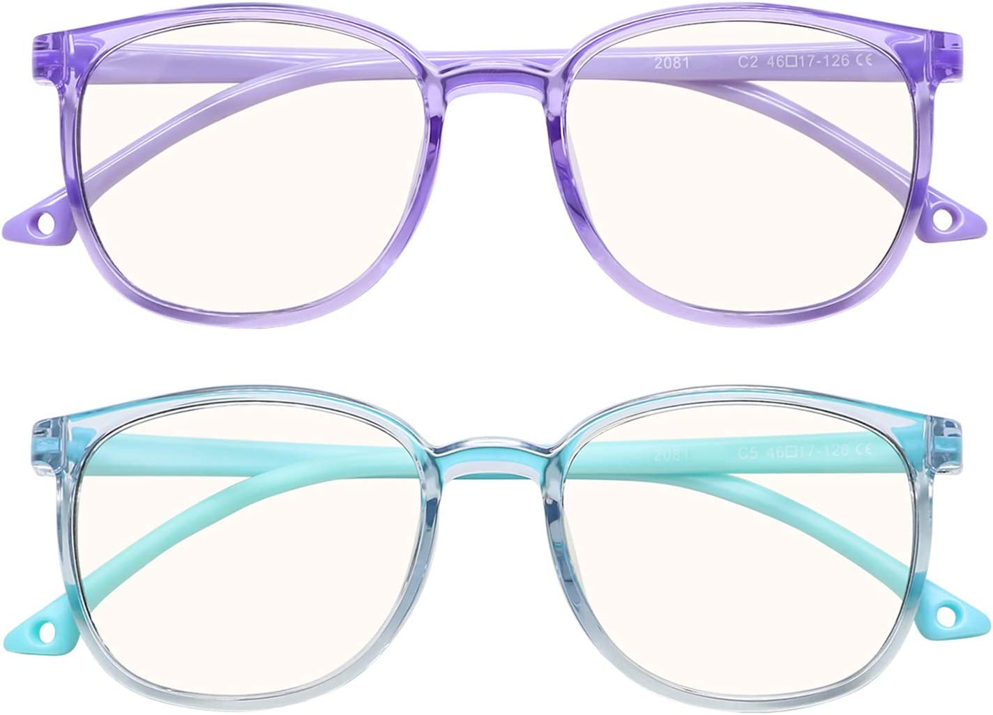Kingswit Kids Blue Light Blocking Gamin Computer Inexpensive 25% OFF Pack 2 Glasses