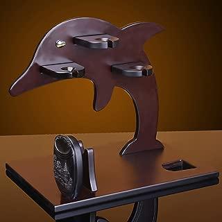 ヨーロッパの純木のイルカの家のワインラック - 40 * 30 * 38cm-ゴブレットラックワイングラスラックバーの装飾品