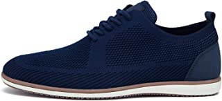 Clenp Zapatos Casuales para Hombre - Zapatos para Caminar Transpirables De Punto De Otoño para Hombre Zapatillas Planas An...