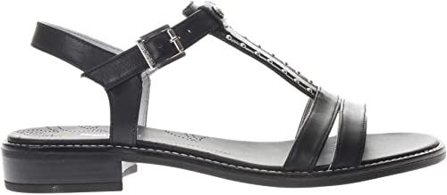 Sandales noirGIARDINI P908231-100 908210 Chaussures pour Femmes en Cuir Noir