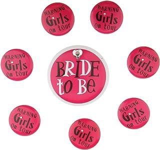 D DOLITY Damen Abzeichen Brosche Anstecker mit Bride to be für JGA Party und Brautparty