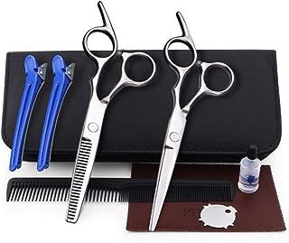 Professional Barber 6.0 Inch, Hair Salon Family Scissors Set Flat + Tooth Scissors Set Combination Tool Set Scissors (Colo...