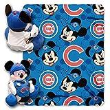 MLB Chicago Cubs Co-Brand Disney Mickey Mouse Hugger & Fleece Throw Set, 40' x 50'
