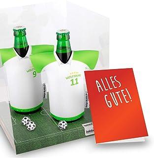 Mein Wolfsburg Trikotkühler | Eiskalter Biergenuss. Jedes Spiel. Jedes Tor. Jeden Moment | Fan-Edition für Zuhause | Home-Trikot Herren Bier Flaschenkühler & Fanartikel by Ligakakao.de