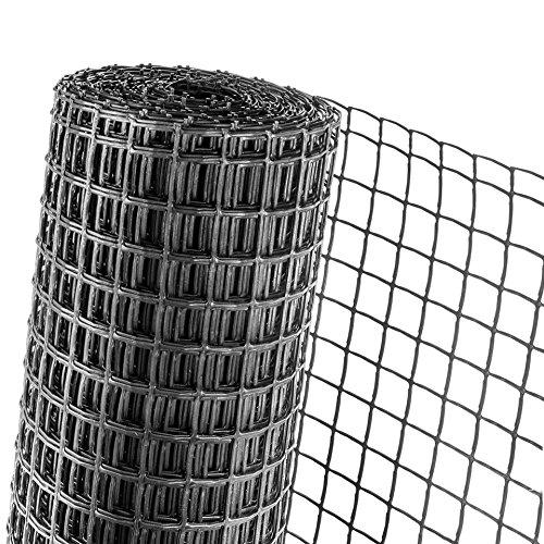 HaGa® Zaun Gartenzaun Pflanzenstütze 0,5m Höhe Masche 40mm schwarz (Meterware)