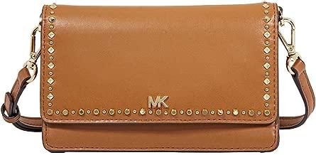 Michael Kors Studded Leather Phone Crossbody Bag- Acorn