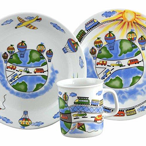 Set Assiette Plate, Assiette Creuse et Mug Bleuet
