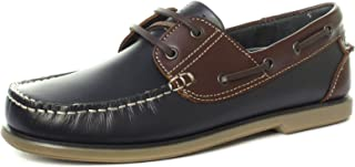 Dek Mens New Brown Leather And Brown Nubuck Lace Up Deck Shoe