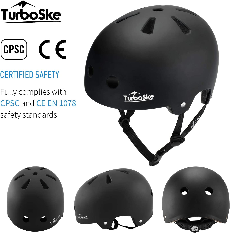 Youth Multi-Sport Helmet TurboSke Skateboard Helmet Men Bike Helmet for Kids Women BMX Helmet