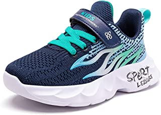 Basket Enfants Garçon Chaussure de Sport Antidérapantes Chaussures de Running Respirantes Sneakers pour Enfant Garçon Fill...