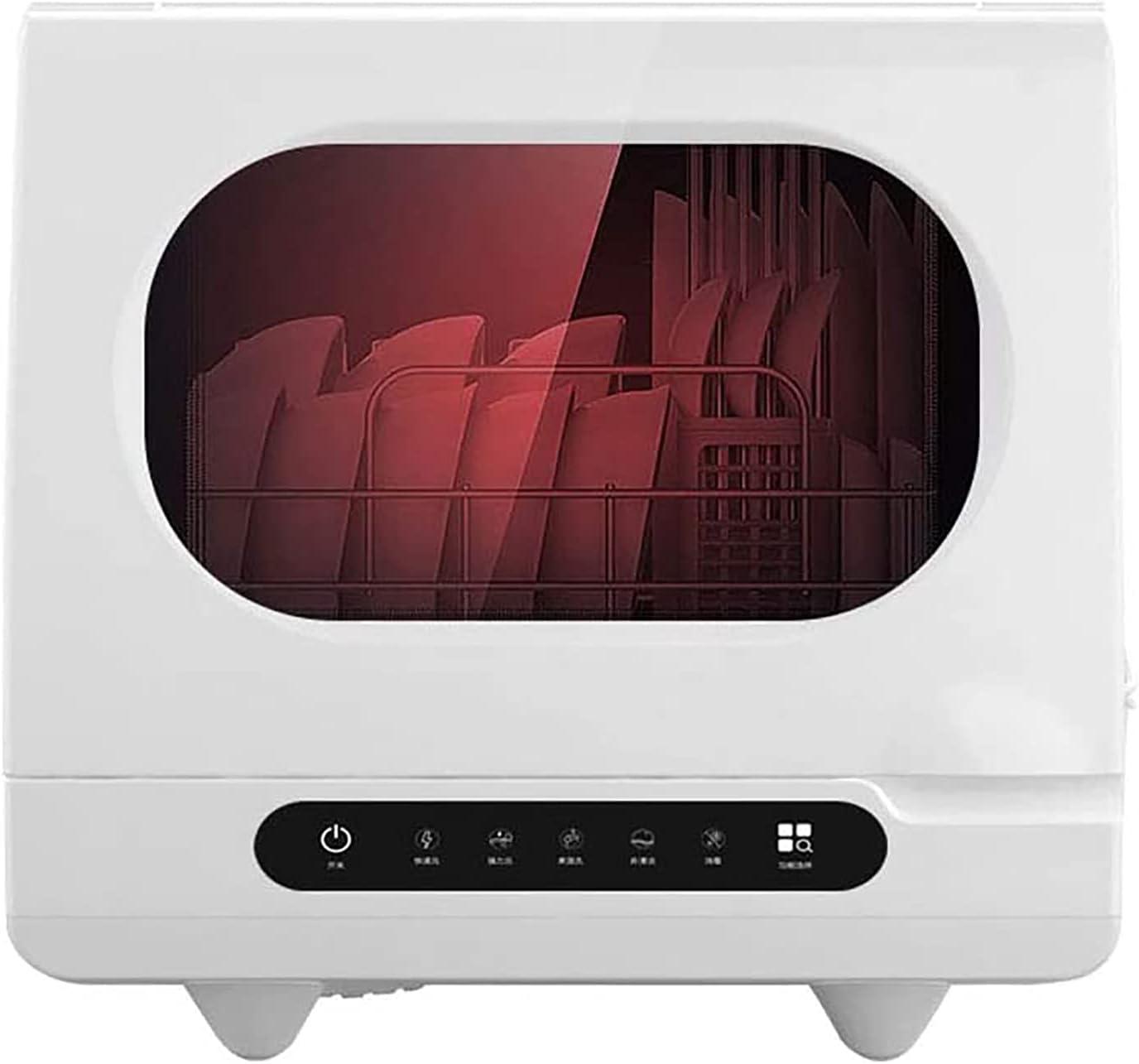Gaone Lavavajillas De Sobremesa Portátil Automático Mini Lavavajillas De Encimera Sin Instalación Doméstica Lavado Y Secado De Platos con Rociador Giratorio 360 ° Azimutal para 4-6 Personas