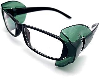 CAREOR - Ala per occhiali da vista, antiscivolo sui lati trasparenti per occhiali di sicurezza, protezione laterale flessi...