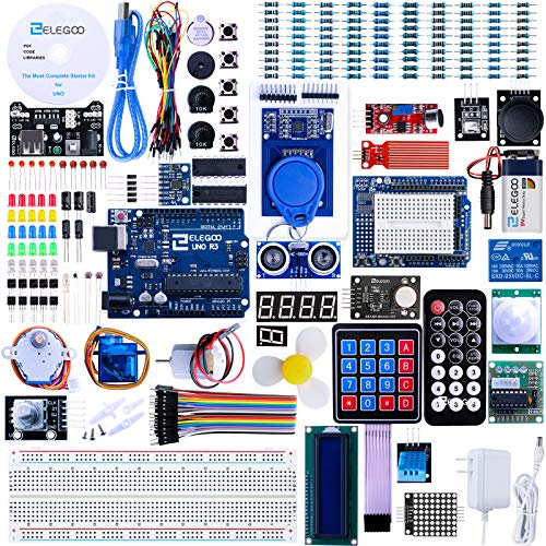 Elegoo UNO R3 Project Complete Starter Kit with Tutorial for Arduino
