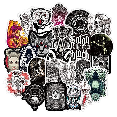 BLOUR 10/30 / 50pcs / Packung Dark Devil Goth Style GraffitiAufkleber für Skateboard Helm Geschenk Fahrrad Computer Notebook Kinderspielzeug