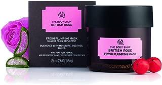 The Body Shop British Rose Fresh Plumping Mask, Expert Facial Mask, 100% Vegan, 3.0 Oz.