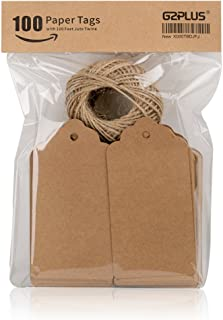 Kraft Paper Tags,Paper Gift Tags with Twine for Arts and Crafts,Wedding Christmas Thanksgiving and Holiday-100PCS