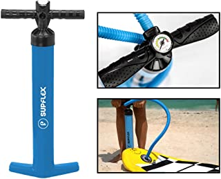 Supflex High Pressure Hand Pump for Inflatable SUP Board - Double Action Pump for Faster Inflation Inflate up to 27 PSI